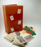 Canasta Box Cards Royalty Free Stock Images