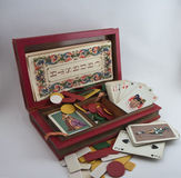 Canasta box cards Stock Image