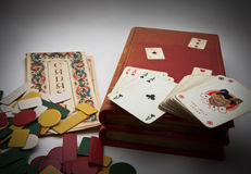 Canasta box cards Royalty Free Stock Photos