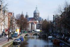 Canaux d'Amsterdam Photographie stock libre de droits