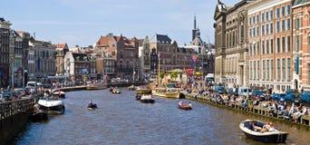 Canaux d'Amsterdam photos libres de droits