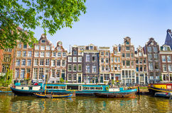 Canaux d'Amsterdam Photos stock