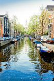 Canaux d'Amsterdam Photographie stock