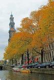 Canaux d'Amsterdam Images libres de droits