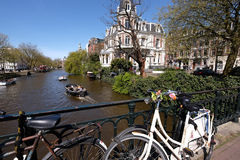 Canaux d'Amsterdam Photos stock