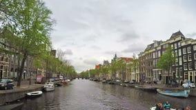 Canaux d'Amsterdam, laps de temps banque de vidéos