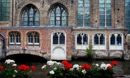 Canaux de Bruges Images stock