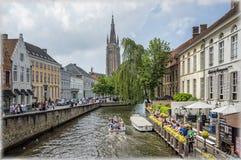 Canaux de Bruges, Belgique Photographie stock libre de droits