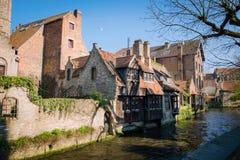 Canaux de Bruges Bruges Photographie stock libre de droits
