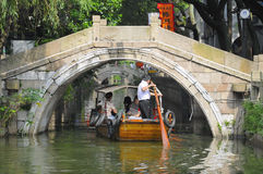 Canaux de l'eau de ville de Tongli photos libres de droits