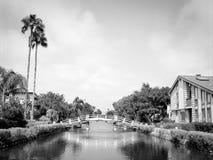 Canaux de plage de Venise Photographie stock libre de droits