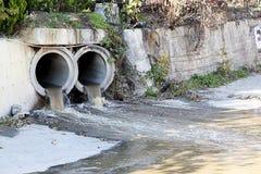 Canaux et environnementalisme d'eaux usées photographie stock