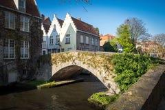 Canaux pittoresques de Bruges Bruges Images libres de droits