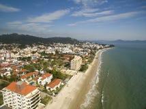 Canavieiras för flyg- sikt strand i Florianopolis, Brasilien Juli 2017 Royaltyfria Foton