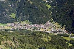 Canazei Luftaufnahme lizenzfreies stockbild