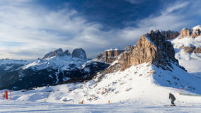 Canazei ski resort Stock Photos