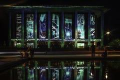 Canberra éclairent la Bibliothèque nationale de festival Image libre de droits