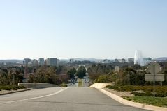Canberra. A view of Canberra, captured from the end of Commonwealth Avenue, Canberra, Australia Royalty Free Stock Photography