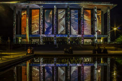 Canberra aclara la biblioteca nacional del festival Imagenes de archivo