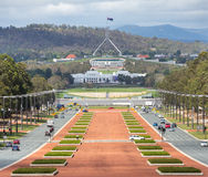 Canberra Australia capital view from war museum to parliament ho Stock Photography