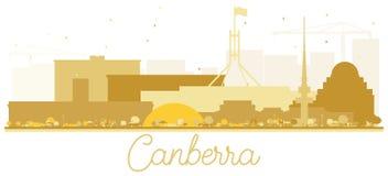 Canberra Australia City skyline Golden silhouette. Vector illustration. Simple flat concept for tourism presentation, banner, placard or web site. Business royalty free illustration