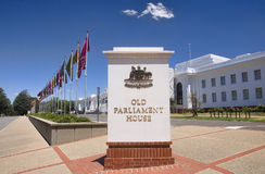 CANBERRA, AUSTRALIA - DECEMBER 18, 2014: Old Parliament House in Royalty Free Stock Photos