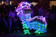 People celebrating Chinese year of the Dog stock images