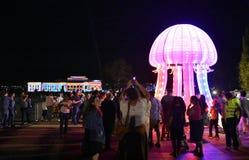 Enlighten festival in Canberra royalty free stock images