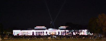 Enlighten festival in Canberra stock image
