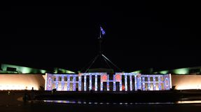 Enlighten festival in Canberra royalty free stock image