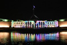 Enlighten festival in Canberra royalty free stock photos