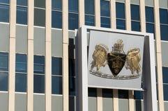 Canberra, Australien - 11. Juli 2018: Gebäude der australische Hauptstadt-Gebiets-gesetzgebenden Versammlung stockbilder