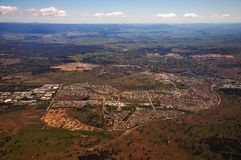 Canberra city birdview Stock Photos