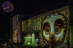 Canberra erleuchten Festival-National Gallery lizenzfreies stockfoto