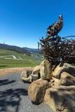 Canberra för Arboretum för Eagles redeskulptur bakgrund Royaltyfri Bild