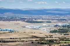 Canberra flygplats Arkivfoto