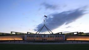 Canberra, het Parlement Huis - Tijdtijdspanne stock video
