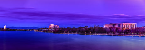 Canberra Lake Burley Griffin National Library Royalty Free Stock Photo