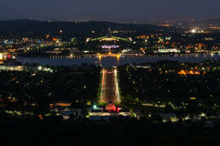 Canberra by night Royalty Free Stock Photos