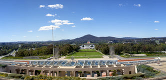 Canberra Panorama from Parliament House Stock Photos
