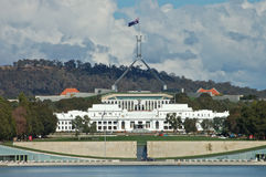 Canberra Parliament house. Parliament Hose building in Canberra Australia Royalty Free Stock Photo