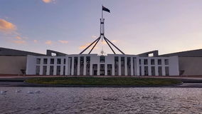 Canberra, Parliament House. Canberra is the capital city of Australia. The city is located at the northern end of the Australian Capital Territory ACT. Canberra stock footage