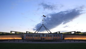 Canberra, Parliament House. Canberra is the capital city of Australia. The city is located at the northern end of the Australian Capital Territory ACT. Canberra stock video