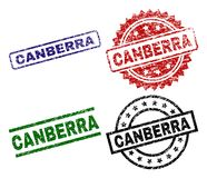 Grunge Textured CANBERRA Seal Stamps stock illustration
