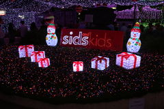 The Canberra Sids and Kids light display Stock Photography