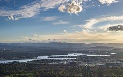 Canberra stad Fotografering för Bildbyråer