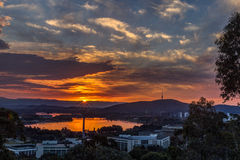 Canberra sunset Royalty Free Stock Photography