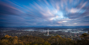 Canberra. A sunst view of Canberra, capital of Australia Stock Images