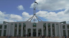 Canberra time lapse. A time lapse of the Federal Parliament, Canberra Australia