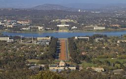 Canberra War Memorial and Parliament House Stock Image
